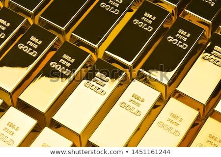 Gold ingots stock photo © RomanenkoAlex