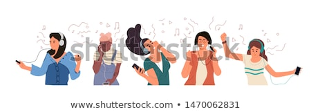 Man listening to music through headphones Stock photo © photography33