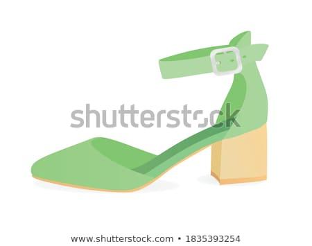 silver strappy stiletto heels stock photo © shanemaritch