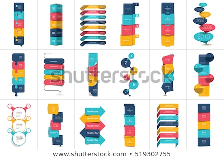 Set of colorful Vector steps template Stock photo © orson