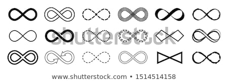 infinity sign, vector set Stock photo © beaubelle