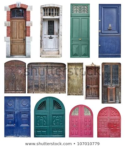 Foto stock: Azul · edad · puerta · detalle · manejar