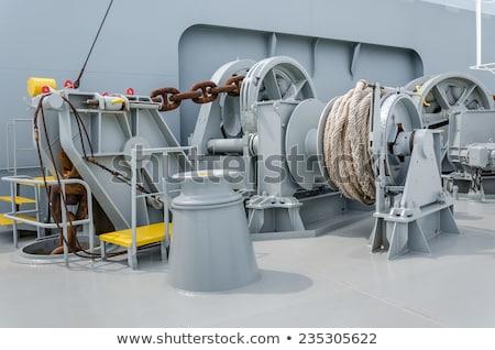 çapa halat feribot ileri su tekne Stok fotoğraf © stoonn