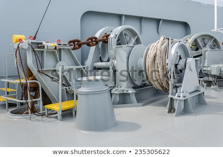 Stock photo: Winch anchor