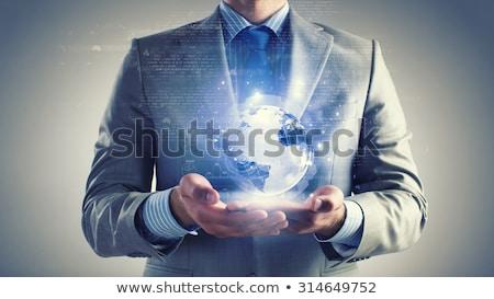 Stockfoto: Man · wereldbol · kunst · zakenman