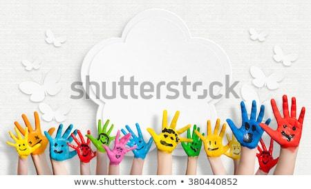 Felicidade crianças como nuvens bebê criança Foto stock © grechka333