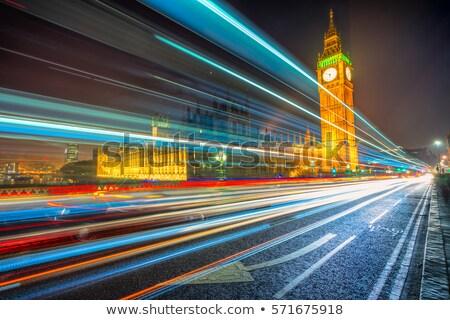 licht · auto · landschap · straat · nacht · snelheid - stockfoto © chrisdorney