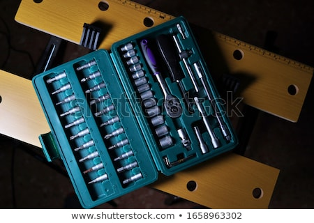 ratchet set with interchangeable heads Stock photo © pxhidalgo