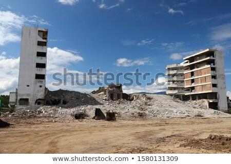 Bina yıkım ayrıntılar küçük görmek otel Stok fotoğraf © searagen