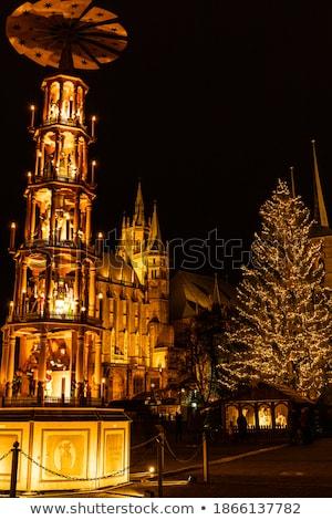 Рождества рынке 19 город свет улице Сток-фото © LianeM