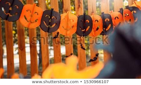 удивленный ночь черный осень фото Сток-фото © klsbear