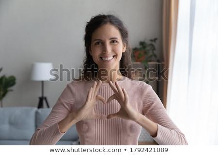 Agradecido mujer hasta cielo espera bendición Foto stock © Lighthunter