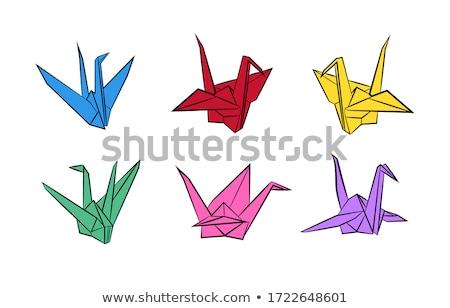 Papír állvány kézzel készített dekoráció akasztás áldás Stock fotó © szefei