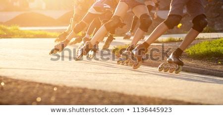 Paten ön plan kız pateni sokak spor Stok fotoğraf © Tagore75