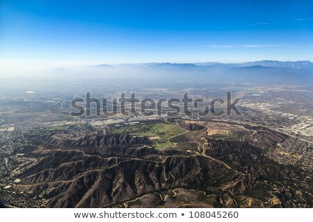 Los Angeles aéroport bâtiment montagne vert Photo stock © meinzahn