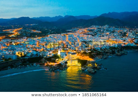 View of the Nerja. Province of Malaga, Andalusia, southern Spain Stock photo © amok
