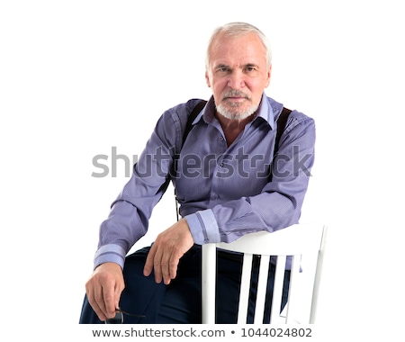 adult man without shirt posing in studio stock photo © racoolstudio
