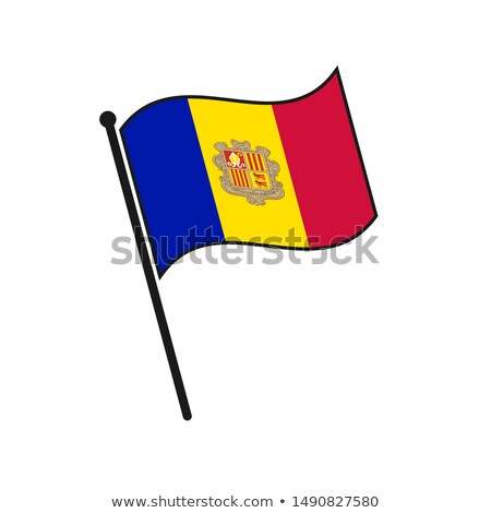 Andorra Small Flag on a Map Background. Stock photo © tashatuvango