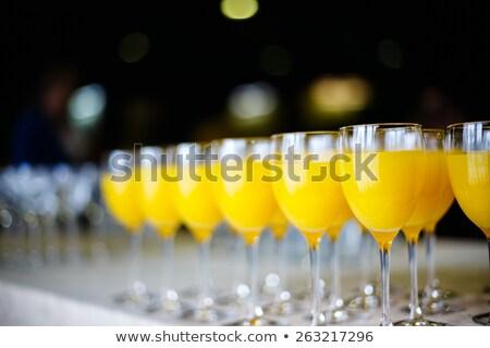 新鮮な オレンジジュース ケータリング ドリンク レストラン 選択フォーカス ストックフォト © dariazu