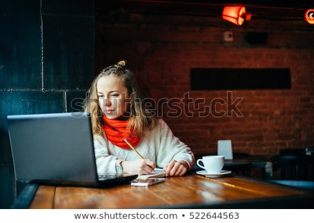 Beautiful girl with red scarf Stock photo © Nejron