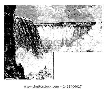 niagara falls new york in black and white stock photo © cmcderm1