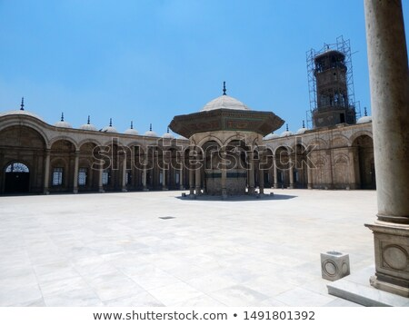 Alabaster Mosque Clocktower Cairo Egypt Stock photo © backyardproductions