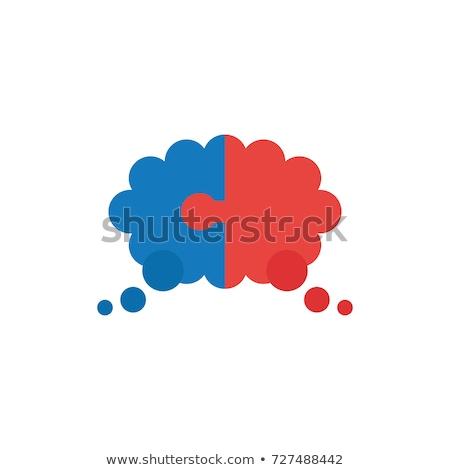 connect to cloud on red puzzle stock photo © tashatuvango