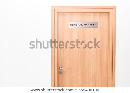 ビジネスマン 一般的な マネージャ ドア インタビュー オフィス ストックフォト © stevanovicigor