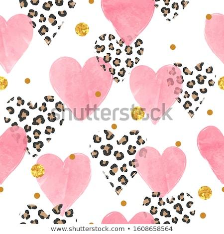 Rose coeurs vecteur coloré Photo stock © Olgart