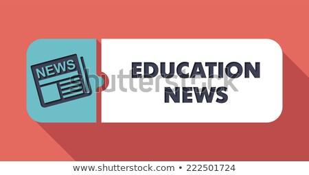 Stock fotó: Oktatás · hírek · terv · gomb · hosszú · árnyékok