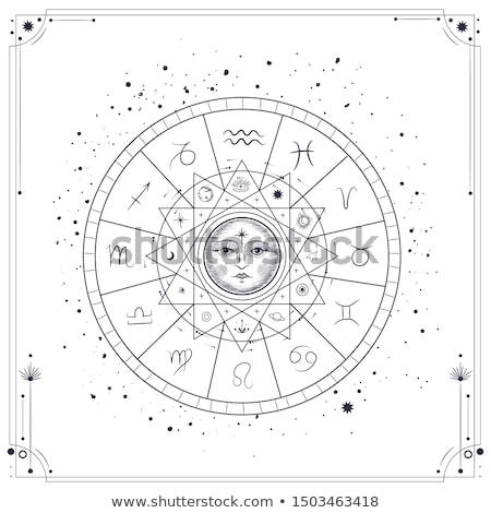 sketch zodiac signs in vintage style stock photo © kali