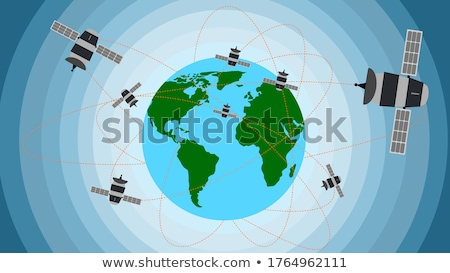 Satellite orbit – Vector illustration Stock photo © Mr_Vector