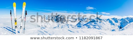 winter mountains and ski slope at sun day stock photo © bsani