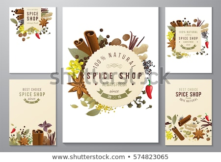 Types Of Spices Stock photo © mart