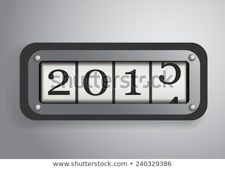 christmas casino happy new year 2015 vector illustration stock photo © carodi