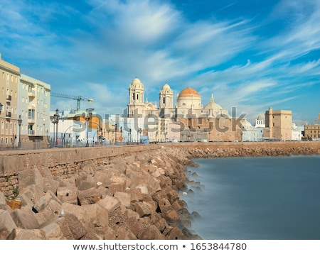 Cadiz Cathedral in Paseo Campo del Sur. Cadiz, Spain.  Stock photo © Photooiasson