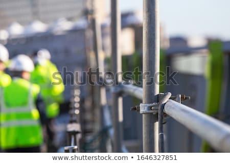 Fém állványzat részletek boglya helyszín munka Stock fotó © mady70