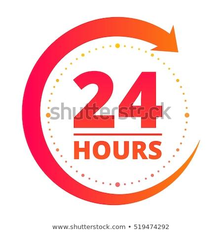 24 Hours Service Green Vector Icon Button Stock photo © rizwanali3d