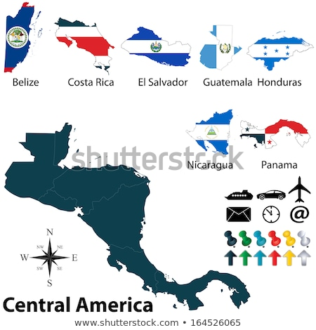Térkép zászló gomb Belize illusztráció művészet Stock fotó © Istanbul2009