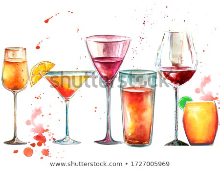 soğuk · cam · şampanya · ıslak · kırmızı · gül · beyaz - stok fotoğraf © Rob_Stark