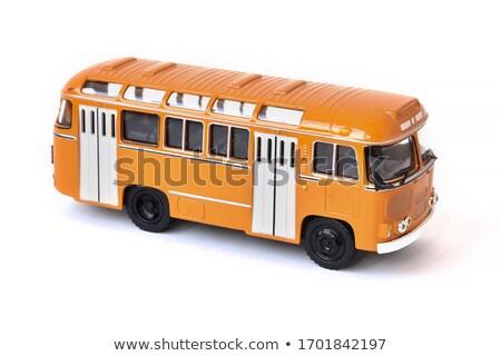 modernes · blanche · bus · isolé · ville · touristiques - photo stock © nelsonart