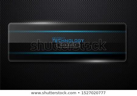 Foto stock: Traçado · vidro · alto · tecnologia · cobrir