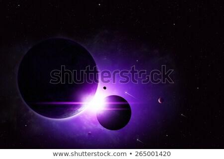 Mély űr fogyatkozás absztrakt képzeletbeli illusztráció Stock fotó © alexaldo