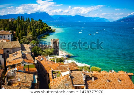 panoramic view from the roof of town lake garda stock photo © master1305