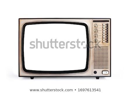 Retro televisione vecchio tv isolato Foto d'archivio © Suljo