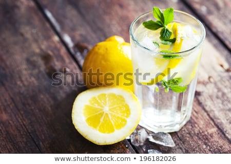 воды · лимона · стекла · полный · Ice · Cube - Сток-фото © limpido