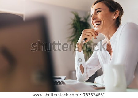 Happy smiling business woman stock photo © elwynn
