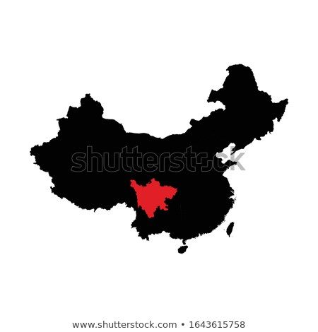 Map of People's Republic of China - Sichuan province Stock photo © Istanbul2009