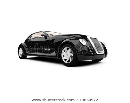 Old Black Car Isolated Against a White Background Stock photo © pzaxe