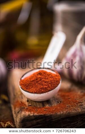 Paprika Powder in Mortar Stock photo © ildi